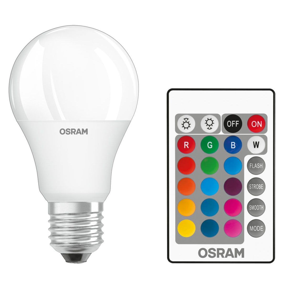osram ampoule led retrofit rgbw standard t l commande e27. Black Bedroom Furniture Sets. Home Design Ideas