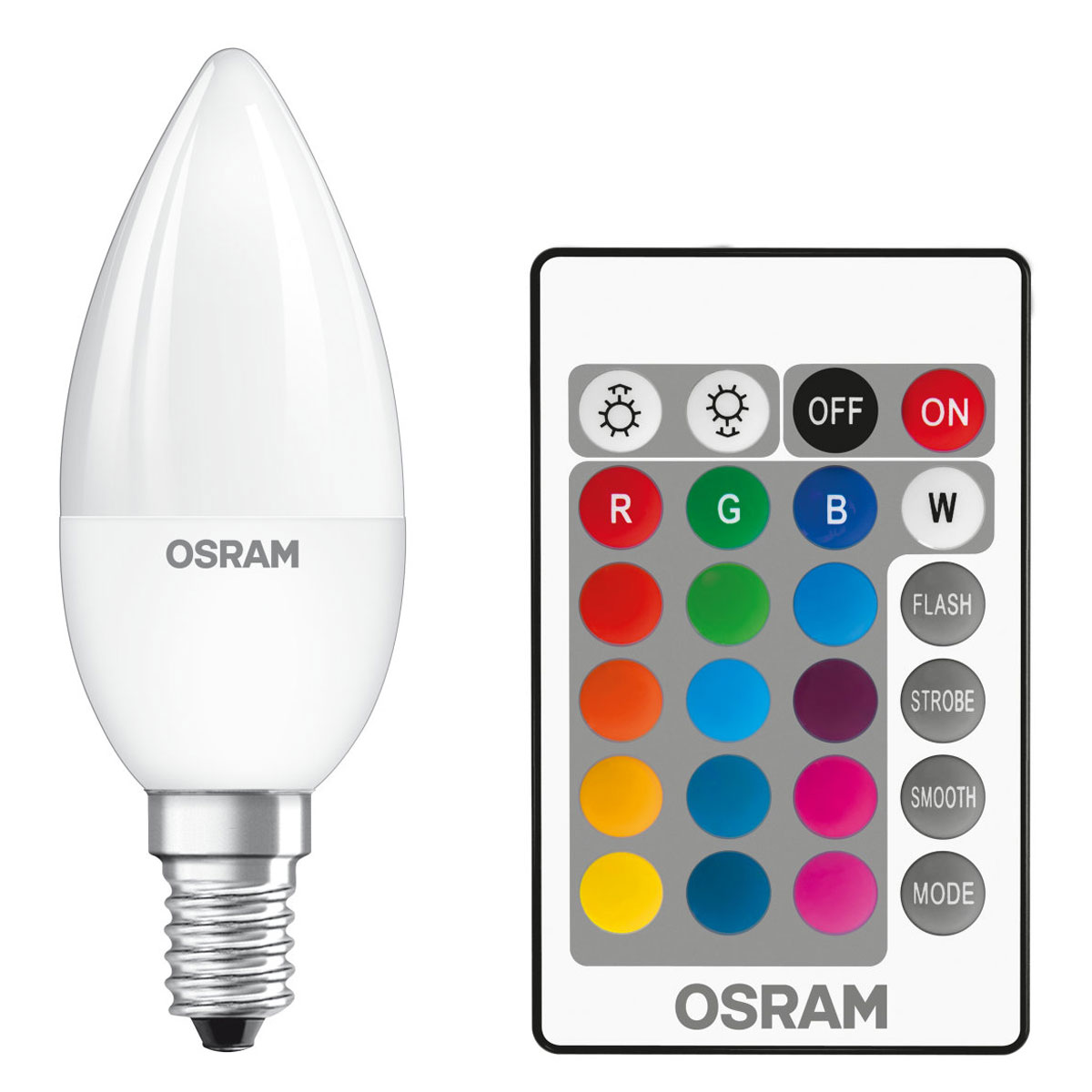 osram ampoule led retrofit rgbw flamme t l commande e14 4 5w 25w a ampoule led osram sur. Black Bedroom Furniture Sets. Home Design Ideas