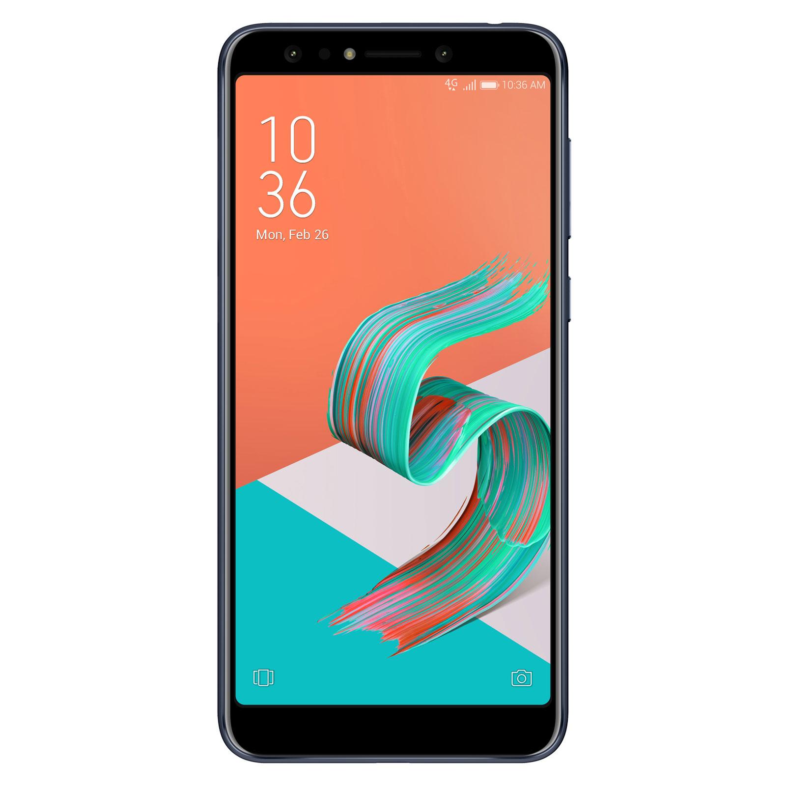 """Mobile & smartphone ASUS ZenFone 5 Lite ZC600KL Noir Smartphone 4G-LTE Dual SIM - Snapdragon 630 8-Core 1.9 GHz - RAM 4 Go - Ecran tactile 6"""" 1080 x 2160 - 64 Go - Bluetooth 4.1 - 3300 mAh - Android 7.1"""