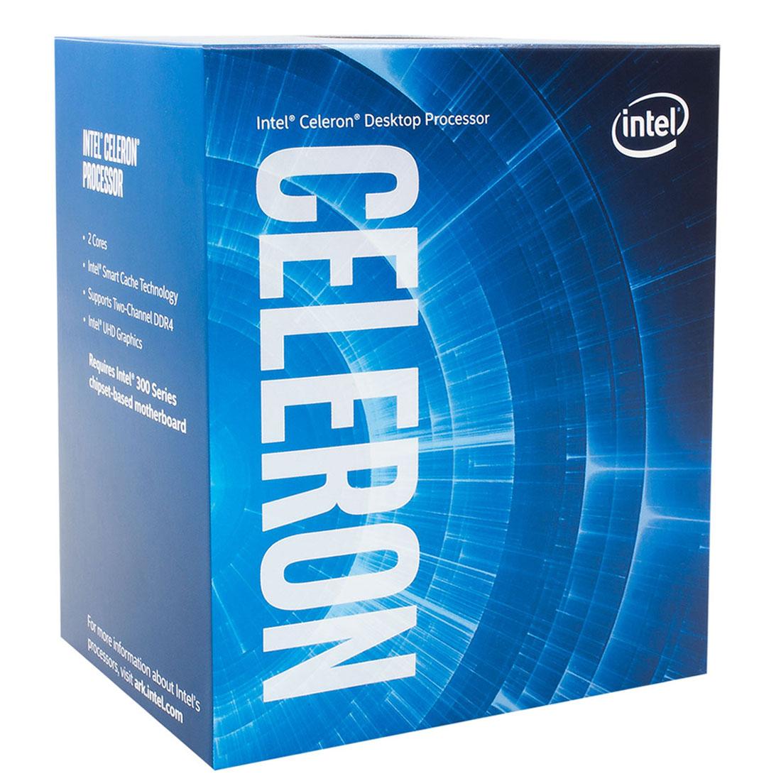 Processeur Intel Celeron G4900 (3.1 GHz) Processeur Dual Core Socket 1151 Cache L3 2 Mo Intel UHD Graphics 610 0.014 micron (version boîte - garantie Intel 3 ans)