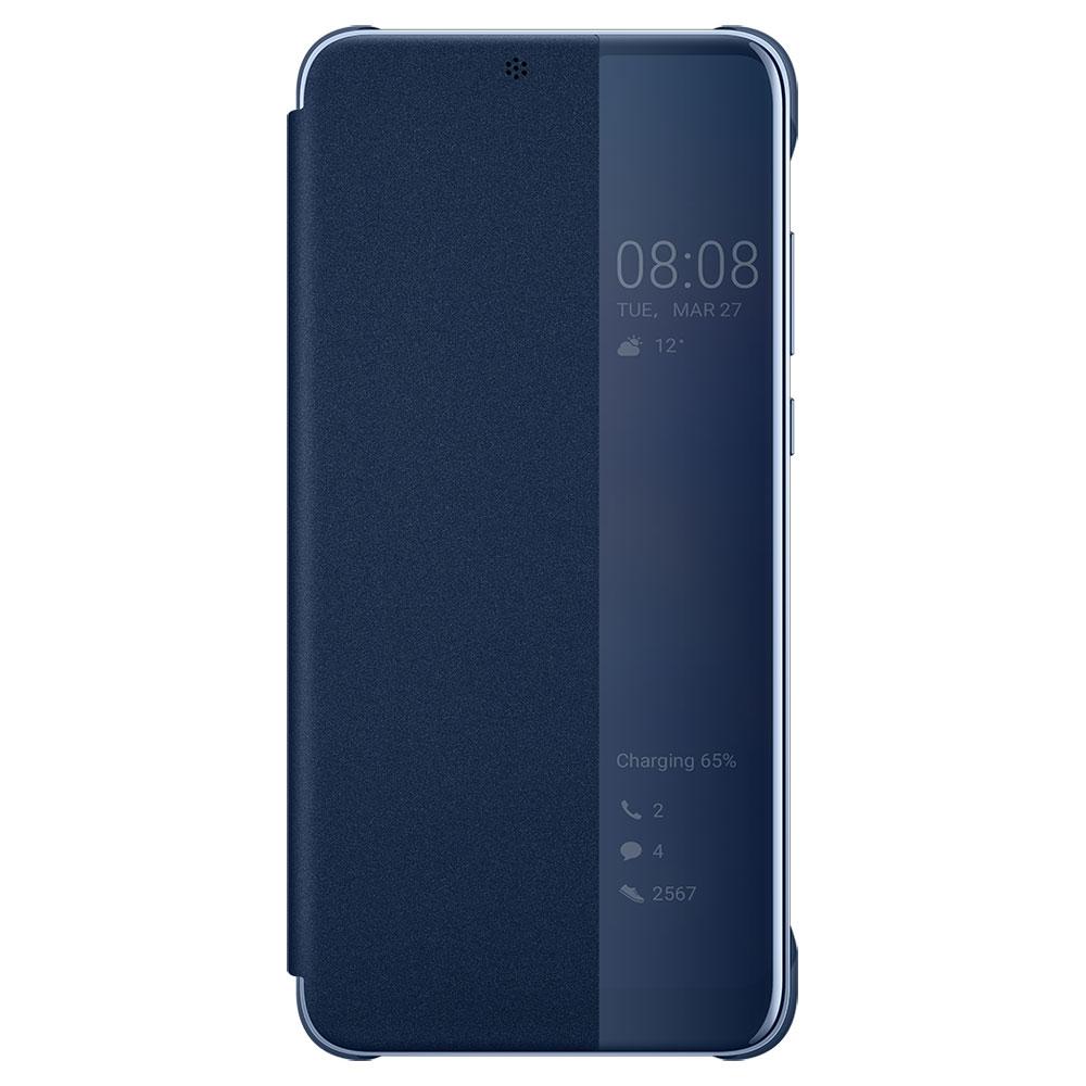 huawei smart view flip cover bleu for p20 pro etui t l phone huawei sur. Black Bedroom Furniture Sets. Home Design Ideas