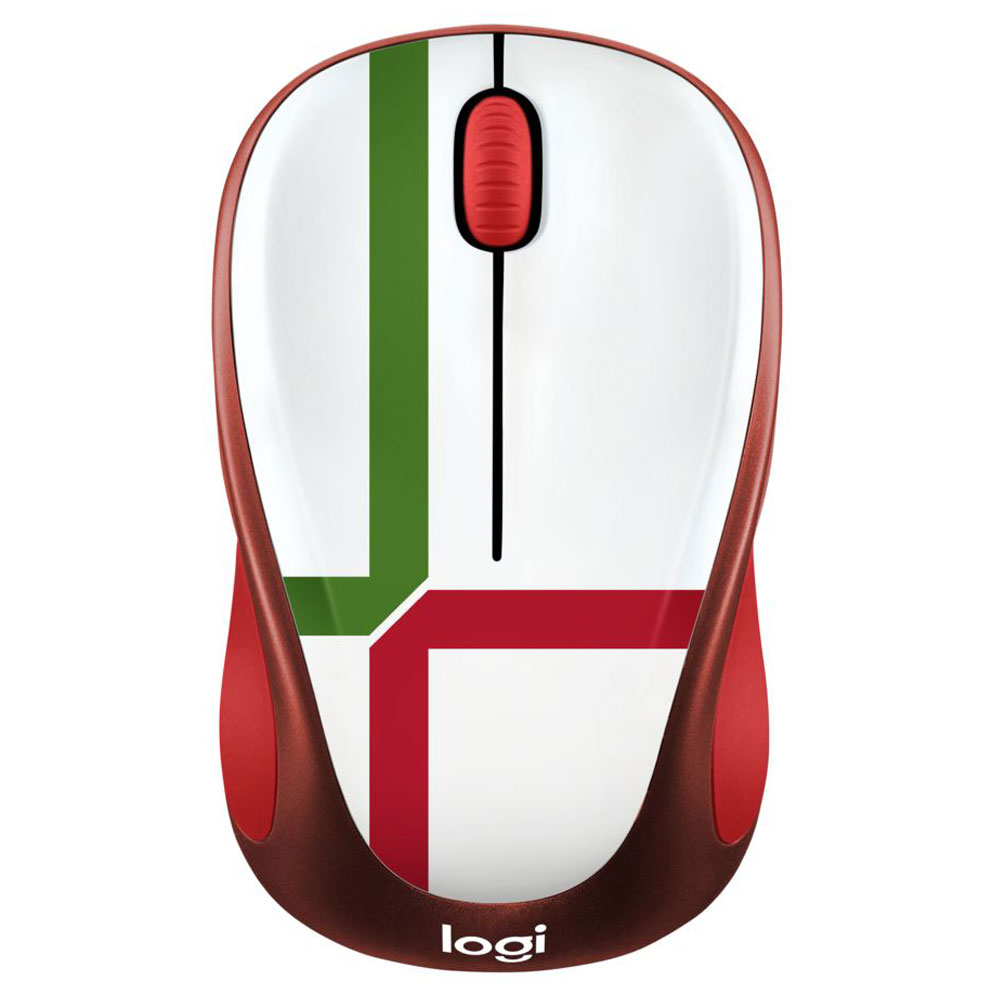 Souris PC Logitech M238 Wireless Mouse Fan Collection Portugal Souris sans fil - ambidextre - capteur optique 1000 dpi - 3 boutons