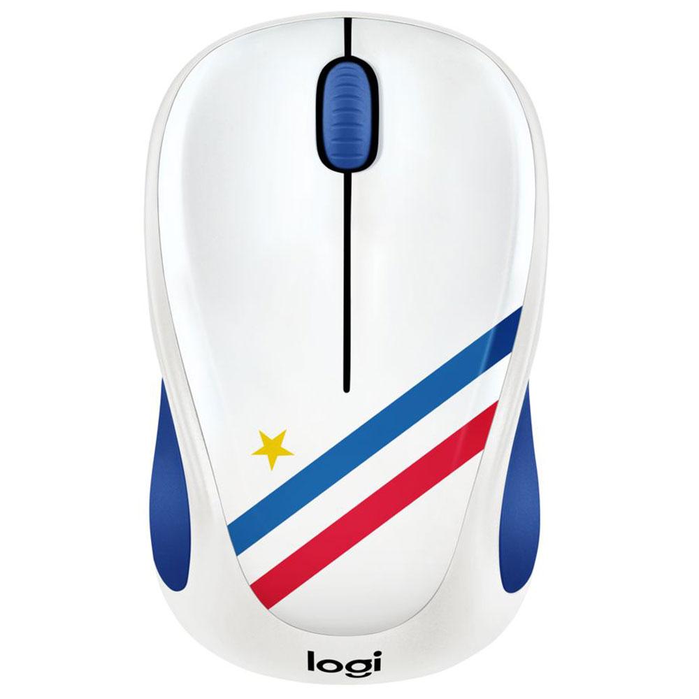 Souris PC Logitech M238 Wireless Mouse Fan Collection France Souris sans fil - ambidextre - capteur optique 1000 dpi - 3 boutons