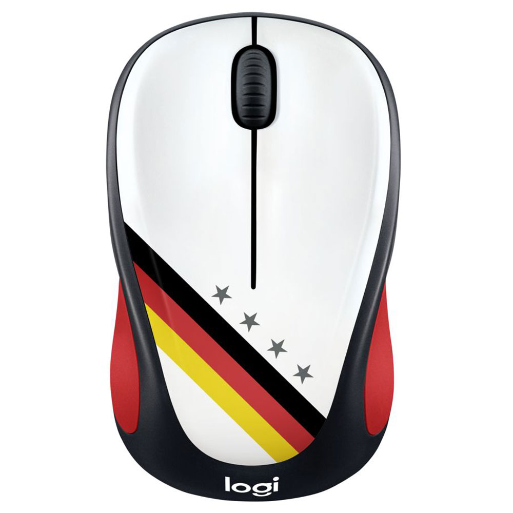 Souris PC Logitech M238 Wireless Mouse Fan Collection Allemagne Souris sans fil - ambidextre - capteur optique 1000 dpi - 3 boutons
