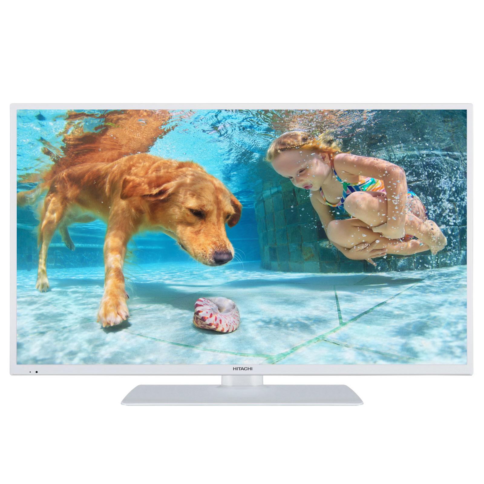 "TV Hitachi 43HK6000 Blanc Téléviseur LED 4K 43"" (109 cm) 16/9 - 3840 x 2160 pixels - HDR - Ultra HD - Wi-Fi - Bluetooth - 1200 Hz"