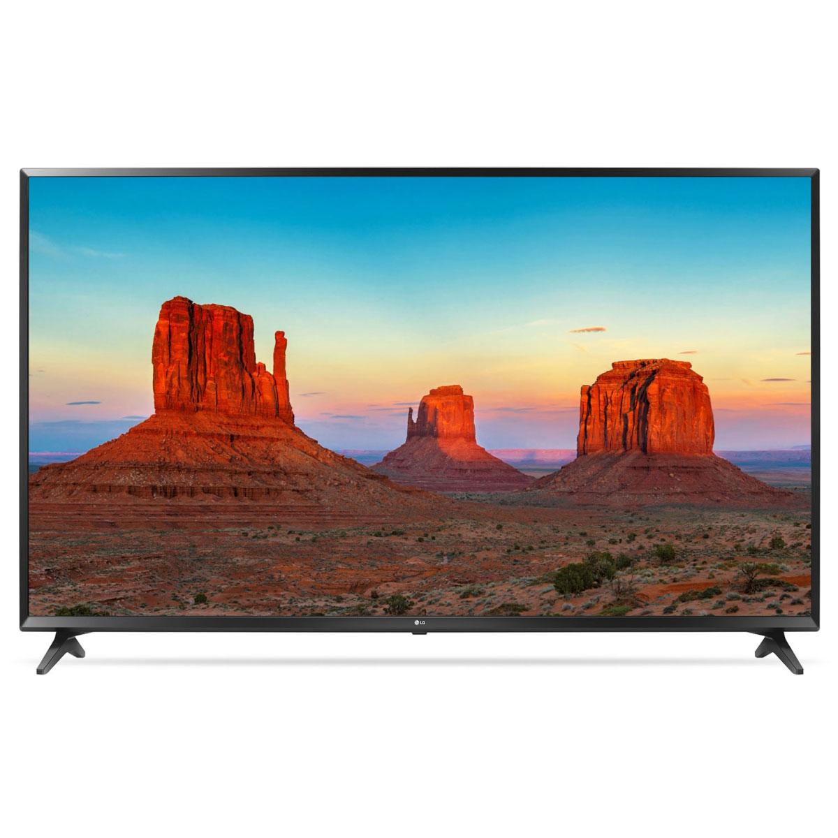 "TV LG 55UK6100 Téléviseur LED 4K 55"" (140 cm) 16/9 - 3840 x 2160 pixels - Ultra HD 2160p - HDR - Wi-Fi - Bluetooth - DLNA - 1600 Hz"