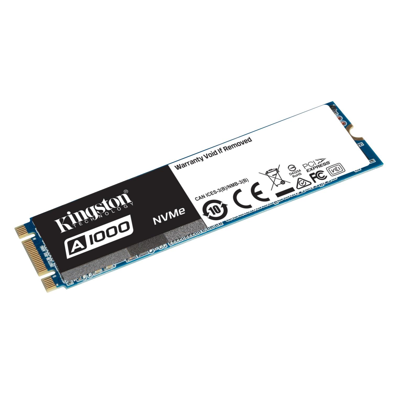 Disque SSD Kingston A1000 M.2 PCIe NVMe 480 Go SSD 480 Go NVMe PCIe