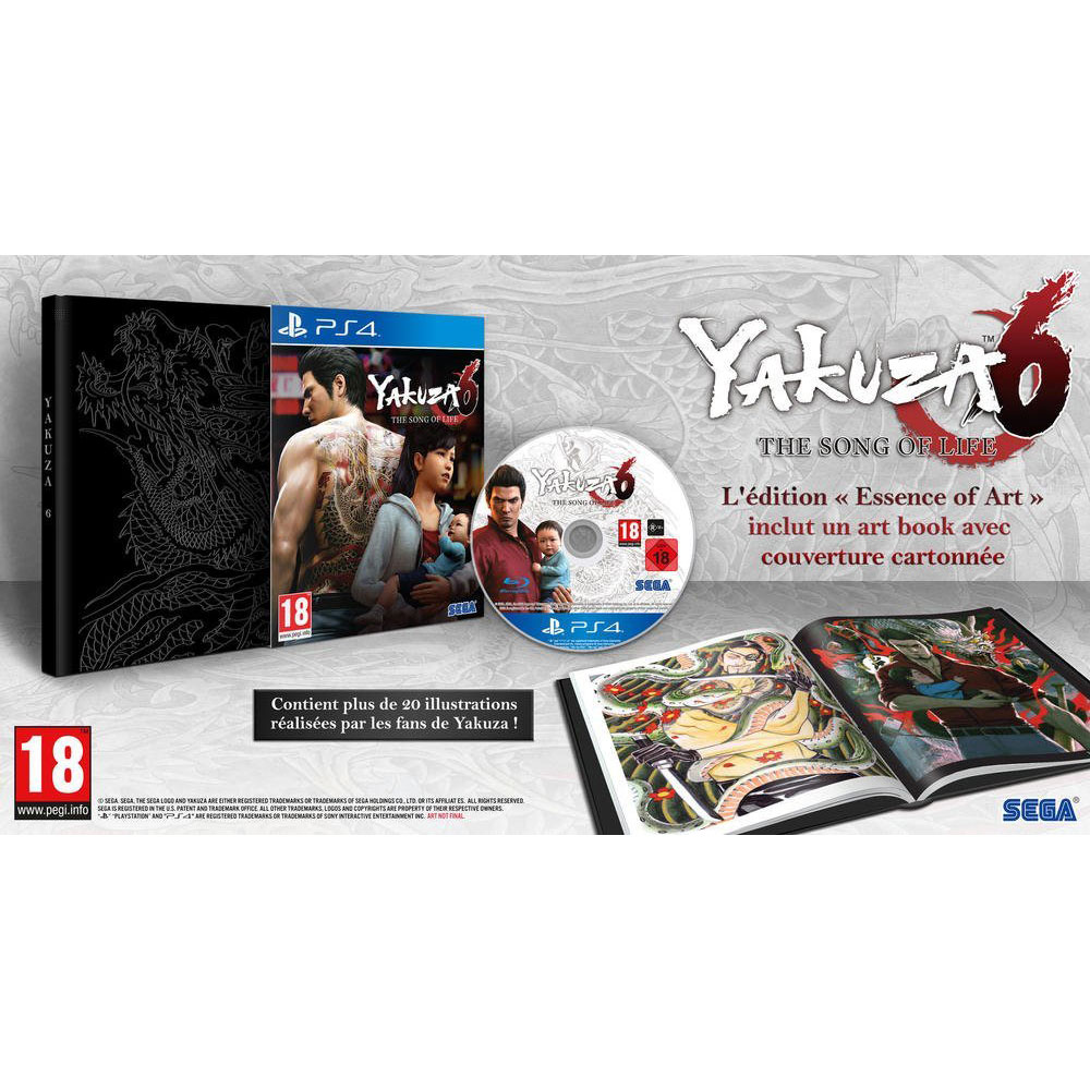 yakuza 6 the song of life essence of art edition ps4 jeux ps4 sega sur. Black Bedroom Furniture Sets. Home Design Ideas