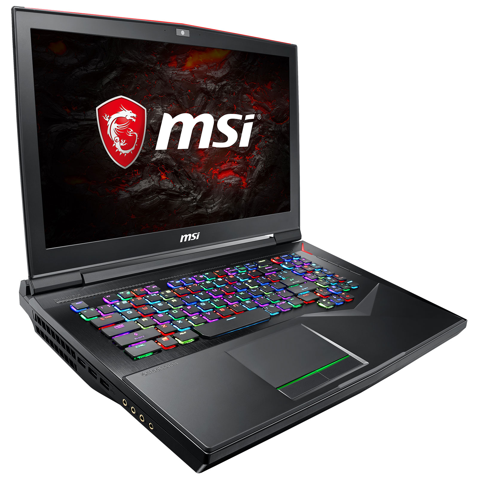 "PC portable MSI GT75 8RG-015FR Titan Intel Core i7-8850H 32 Go SSD 512 Go (2x 256 Go) + HDD 1 To 17.3"" LED Full HD NVIDIA GeForce GTX 1080 8 Go Wi-Fi AC/Bluetooth Webcam Windows 10 Famille 64 bits (garantie constructeur 2 ans)"