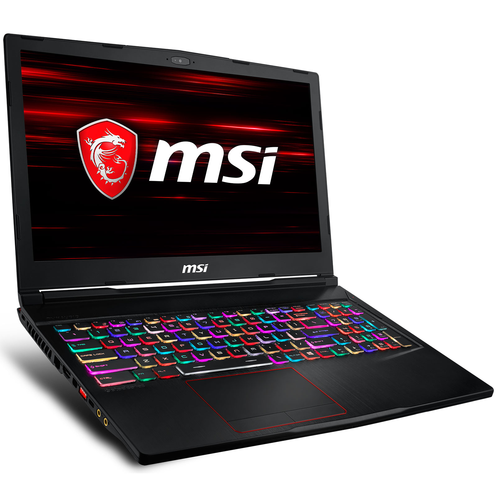 "PC portable MSI GE63 8SF-077FR Raider RGB Intel Core i7-8750H 16 Go SSD 256 Go + HDD 1 To 15.6"" LED Full HD 144 Hz NVIDIA GeForce RTX 2070 8 Go Wi-Fi AC/Bluetooth Webcam Windows 10 Famille 64 bits (garantie constructeur 2 ans)"
