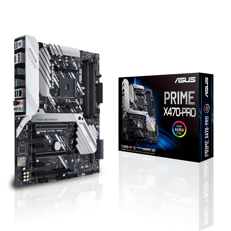 Carte mère ASUS PRIME X470-PRO Carte mère ATX Socket AM4 AMD X470 - 4x DDR4 - SATA 6Gb/s + M.2 - USB 3.1 - 2x PCI-Express 3.0 16x + 1x PCI-Express 2.0 16x