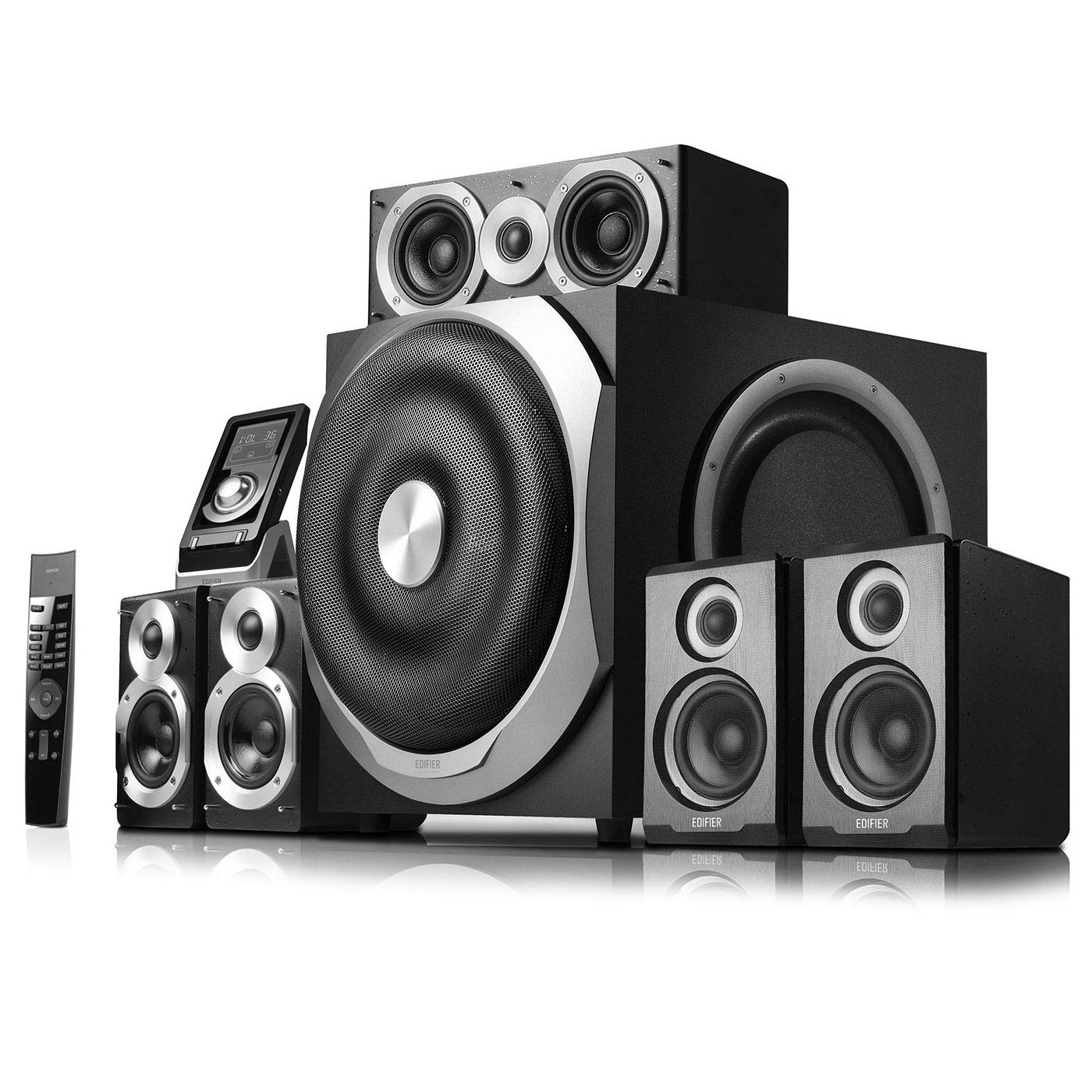 Ensemble home cinéma Edifier S760D Ensemble home cinéma 5.1 Dolby Digital / Dolby Pro Logic II / DTS