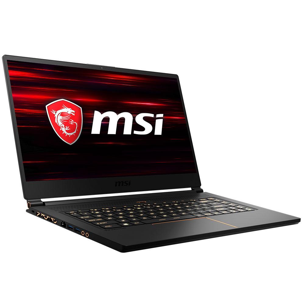 "PC portable MSI GS65 8RF-046FR Stealth Thin Intel Core i7-8750H 32 Go SSD 512 Go 15.6"" LED Full HD 144 Hz NVIDIA GeForce GTX 1070 8 Go Wi-Fi AC/Bluetooth Webcam Windows 10 Professionnel 64 bits (garantie constructeur 3 ans)"