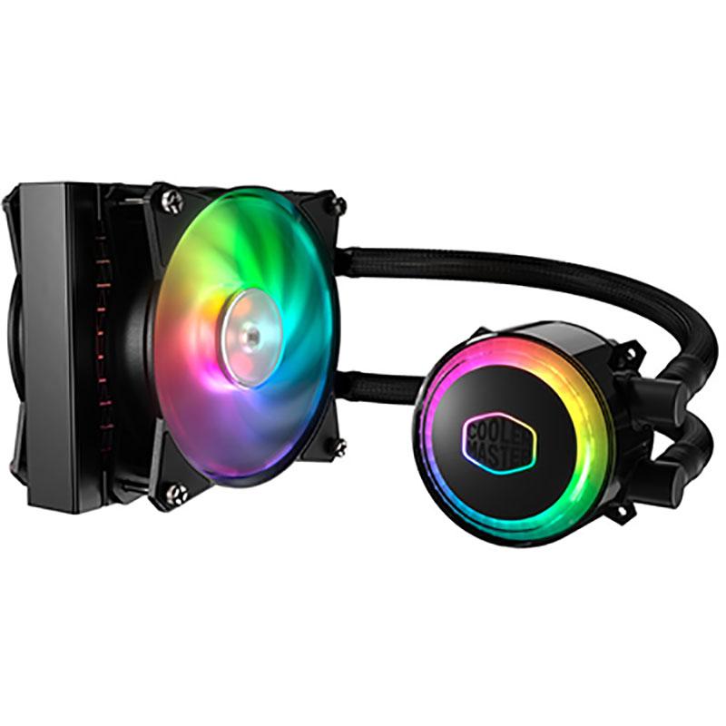 Ventilateur processeur Cooler Master MasterLiquid ML120R RGB Kit de Watercooling RGB tout-en-un pour processeur (Intel socket LGA 2066 / 2011-3 / 2011 / 1366 / 1150 / 1151/ 1155 / 1156 / 775 AMD socket FM2+ / FM2 / FM1 / AM4 / AM3+ / AM3 / AM2 / AM2+)