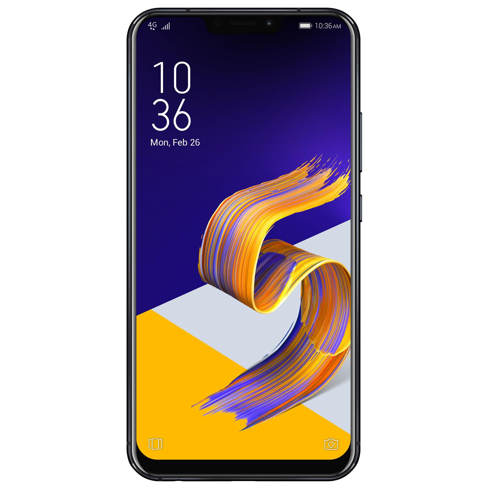 """Mobile & smartphone ASUS ZenFone 5 ZE620KL Bleu Nuit Smartphone 4G-LTE Advanced Dual SIM - Snapdragon 636 8-Core 1.8 GHz - RAM 4 Go - Ecran tactile 6.18"""" 1080 x 2246 - 64 Go - Bluetooth 5.0 - 3300 mAh - Android 8.0"""