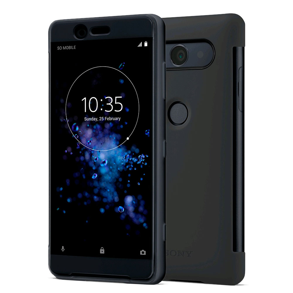 sony style cover touch noir sony xperia xz2 compact etui t l phone sony sur. Black Bedroom Furniture Sets. Home Design Ideas