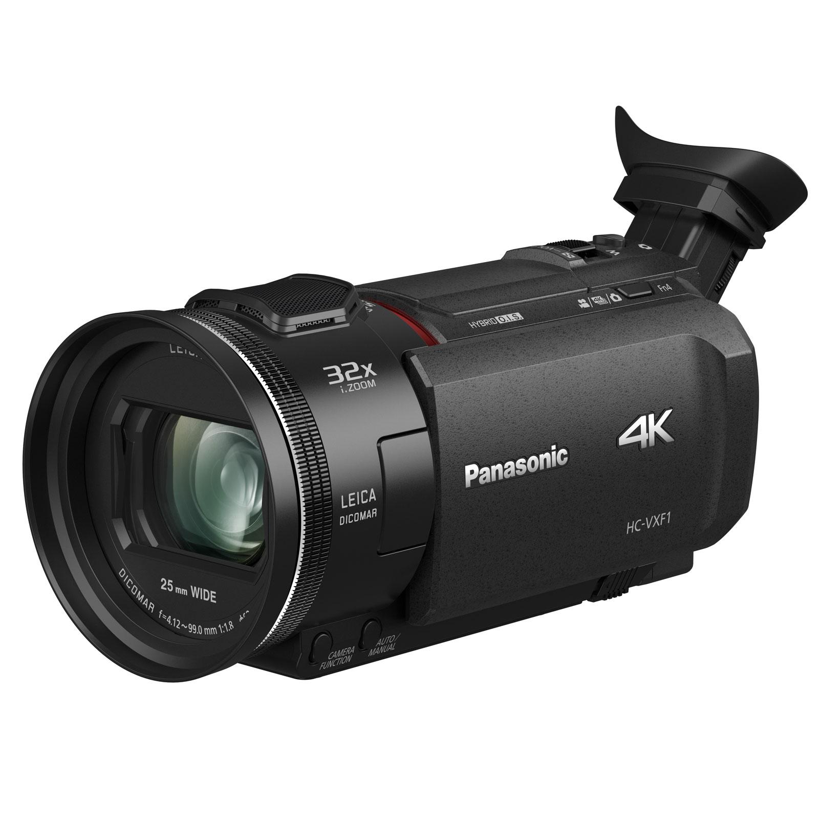Caméscope numérique Panasonic HC-VXF1EF Noir Caméscope Ultra HD 4K - 8.29 mégapixels - Grand-angle 25 mm - Zoom optique 24x - Stabilisateur Hybrid O.I.S. - Viseur électronique - Wi-Fi