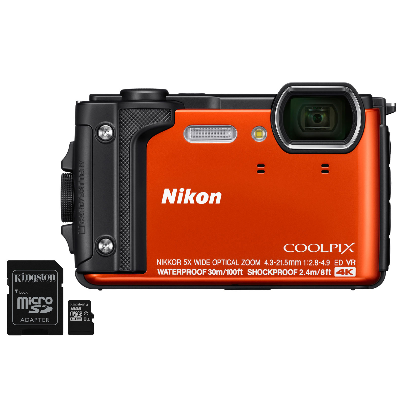 nikon coolpix w300 orange kingston canvas select sdcs 16gb appareil photo num rique nikon. Black Bedroom Furniture Sets. Home Design Ideas