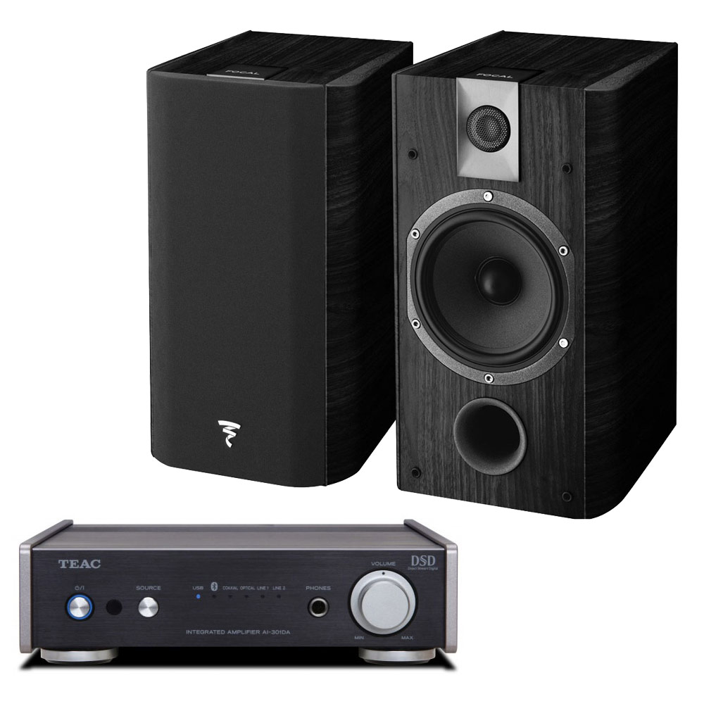 teac ai 301da noir focal chorus 605 black style ensemble hifi teac sur. Black Bedroom Furniture Sets. Home Design Ideas