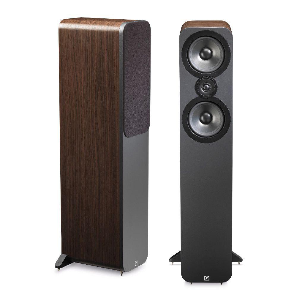 Enceintes Hifi Q Acoustics 3050 Noyer Enceinte colonne compacte (par paire)