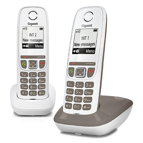 Téléphone sans fil Gigaset AS470 Duo Taupe Téléphone sans fil mains-libres  avec 1 combiné 7ae789ae8358
