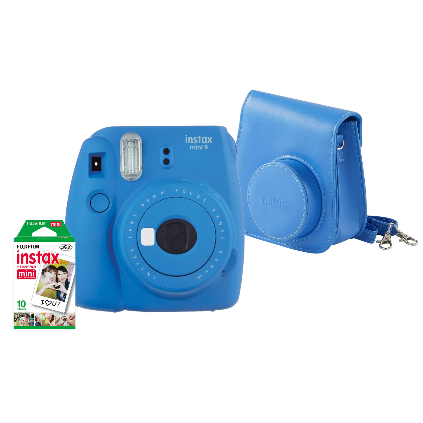 Fujifilm pack instax mini 9 bleu appareil photo for Housse instax mini