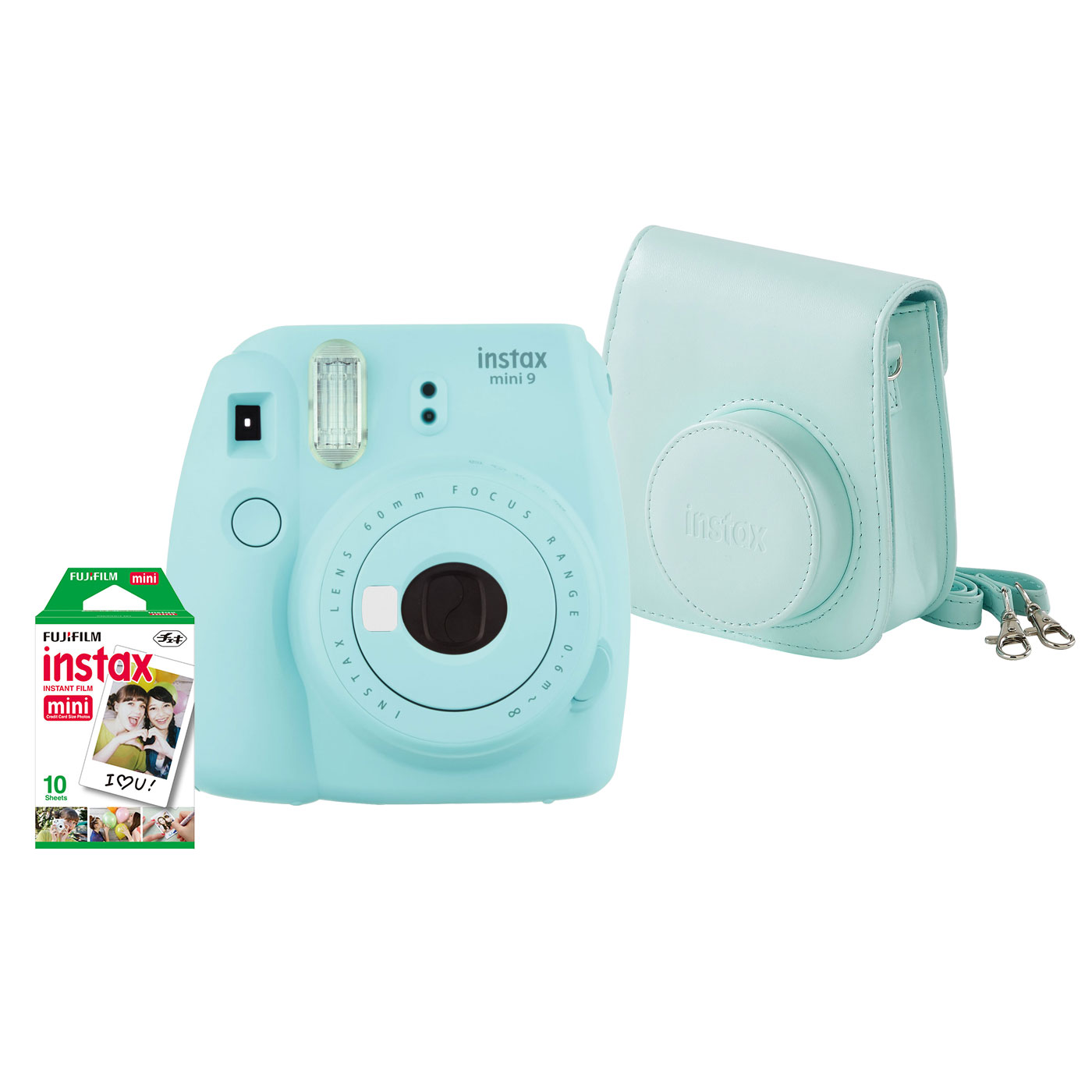 c8baf4c28d63de Appareil photo numérique Fujifilm Pack instax mini 9 Bleu Givré Appareil  photo instantané avec flash et