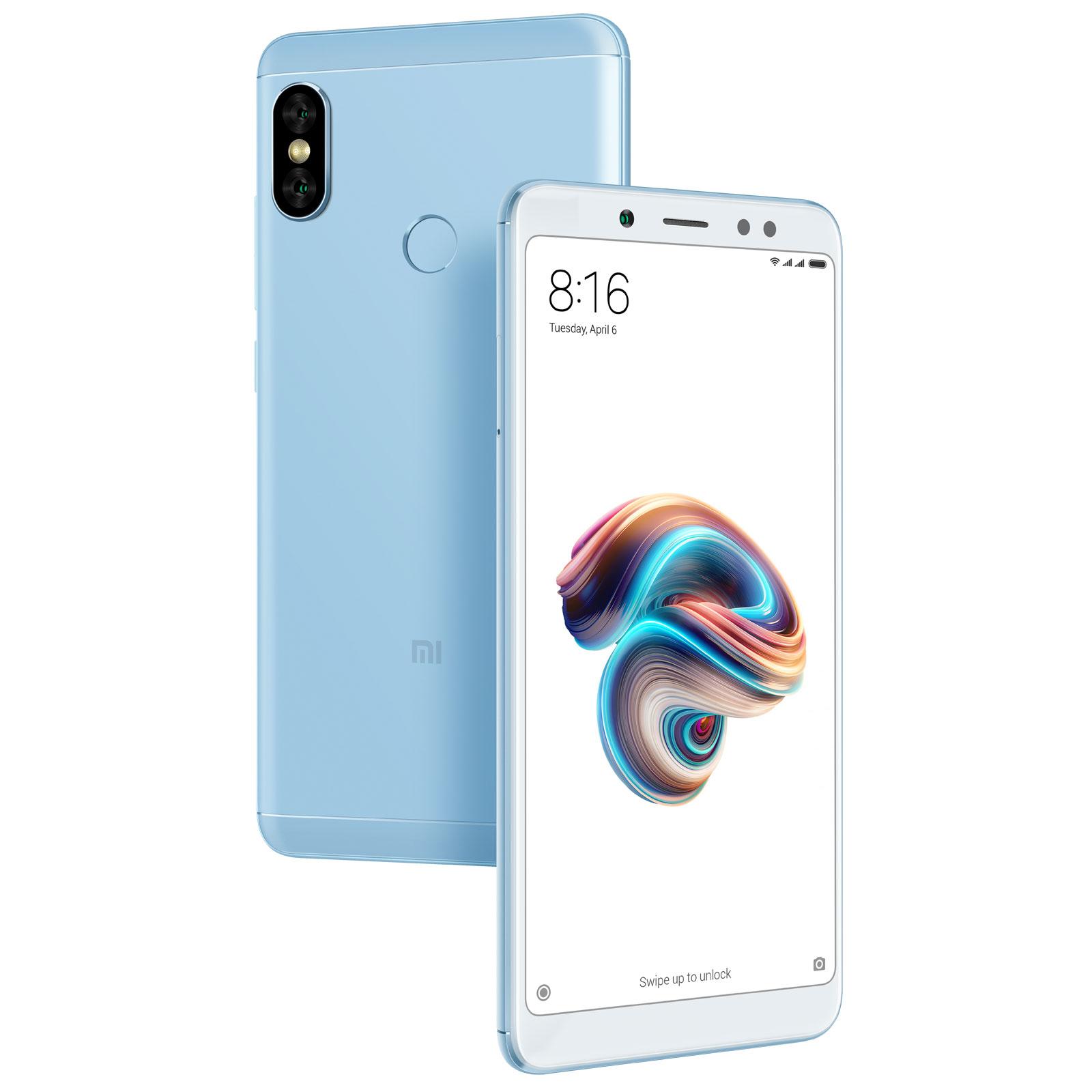 "Mobile & smartphone Xiaomi Redmi Note 5 Bleu (32 Go) Smartphone 4G-LTE Dual SIM - Snapdragon 636 Octo-Core 1.8 GHz - RAM 3 Go - Ecran tactile 5.99"" 1080 x 2160 - 32 Go - NFC/Bluetooth 5.0 - 4000 mAh - Android 8.1"