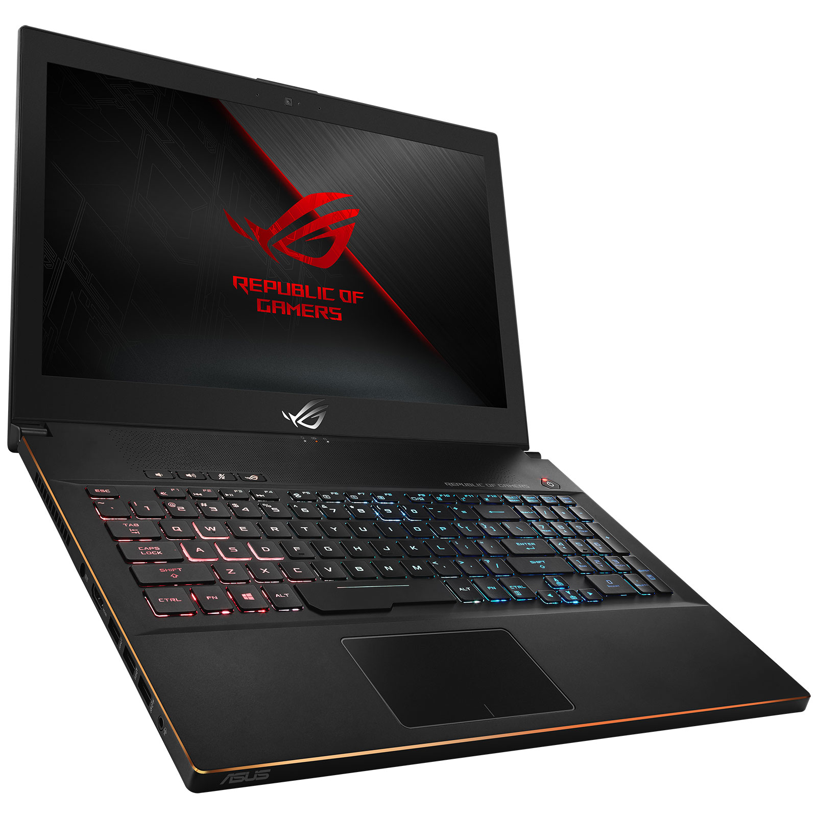 "PC portable ASUS ROG Zephyrus GM501GM-EI005T Intel Core i7-8750H 16 Go SSD 256 Go + SSHD 1 To 15.6"" LED Full HD 144 Hz G-SYNC NVIDIA GeForce GTX 1060 6 Go Wi-Fi AC/Bluetooth Webcam Windows 10 Famille 64 bits (garantie constructeur 2 ans)"