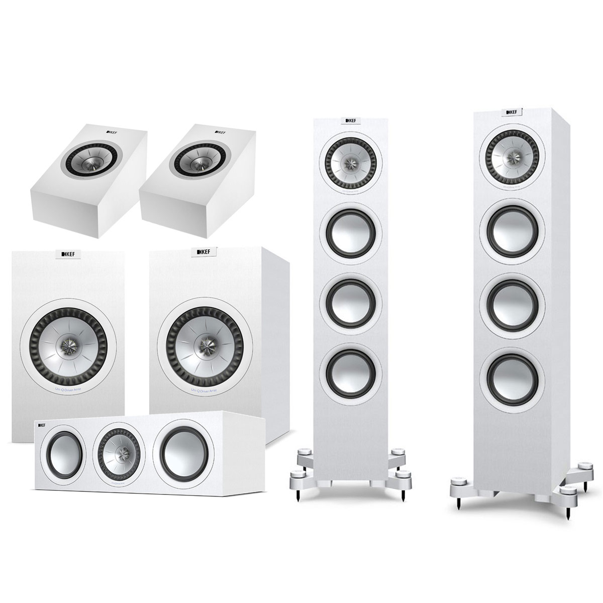 kef q550 system plus atmos blanc enceintes hifi kef sur. Black Bedroom Furniture Sets. Home Design Ideas