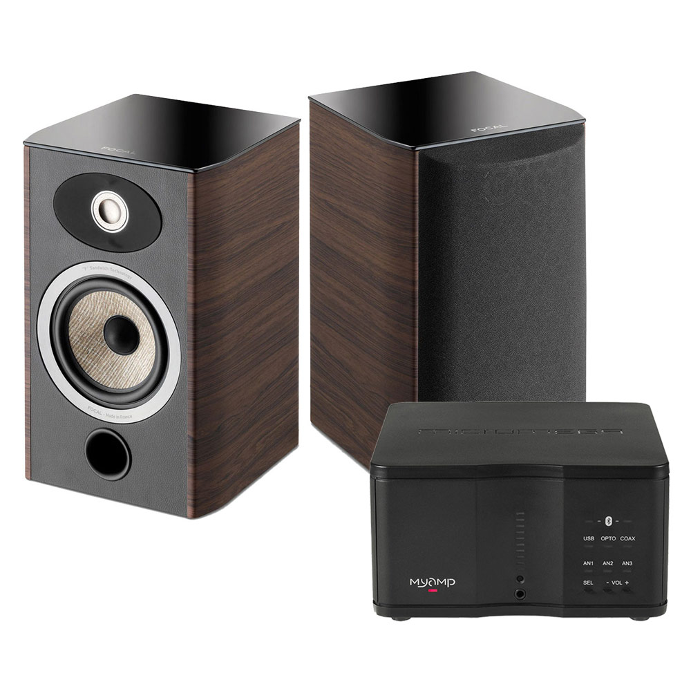 micromega myamp noir focal aria 906 noyer ensemble hifi micromega sur. Black Bedroom Furniture Sets. Home Design Ideas