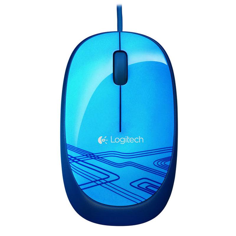 Souris PC Logitech Corded Mouse M105 (Bleu) Souris filaire - ambidextre - capteur optique - 3 boutons