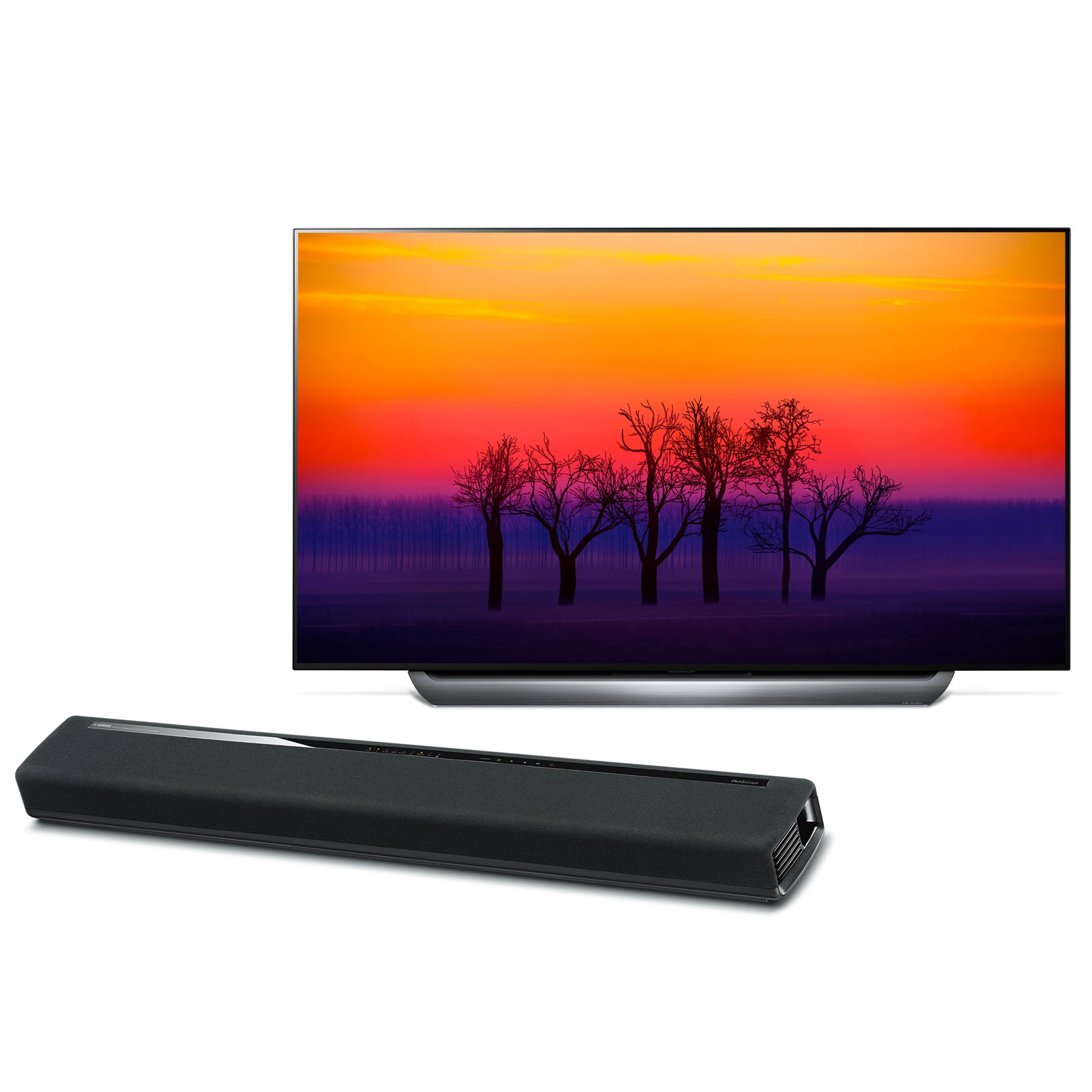 "TV LG OLED65C8 + Yamaha MusicCast YAS-306 Noir Téléviseur OLED 4K 65"" (165 cm) 16/9 - 3840 x 2160 pixels - Ultra HD 2160p - HDR - Wi-Fi - Bluetooth - Dolby Atmos (dalle native 100 Hz) + Barre de son 2.1 Bluetooth avec MusicCast"