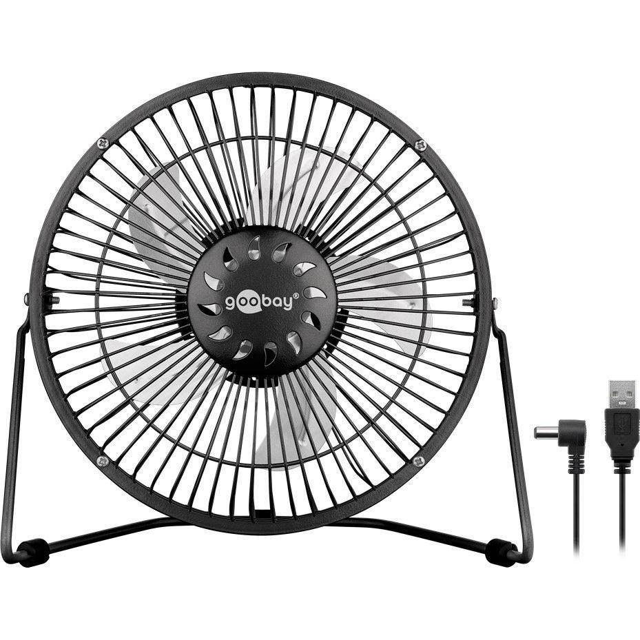 Goobay mini ventilateur usb 8 39 noir goodies goobay sur - Mini ventilateur de bureau ...