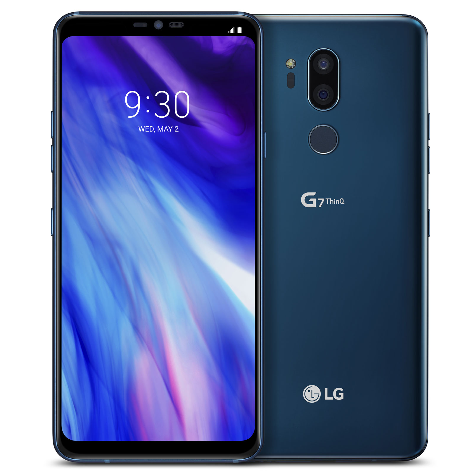 "Mobile & smartphone LG G7 ThinQ 64 Go Bleu Smartphone 4G-LTE Advanced IP68 - Snapdragon 845 8-Core 2.8 GHz - RAM 4 Go - Ecran tactile 6.1"" 1440 x 3120 - 64 Go - NFC/Bluetooth 5.0 - 3000 mAh - Android 8.0"