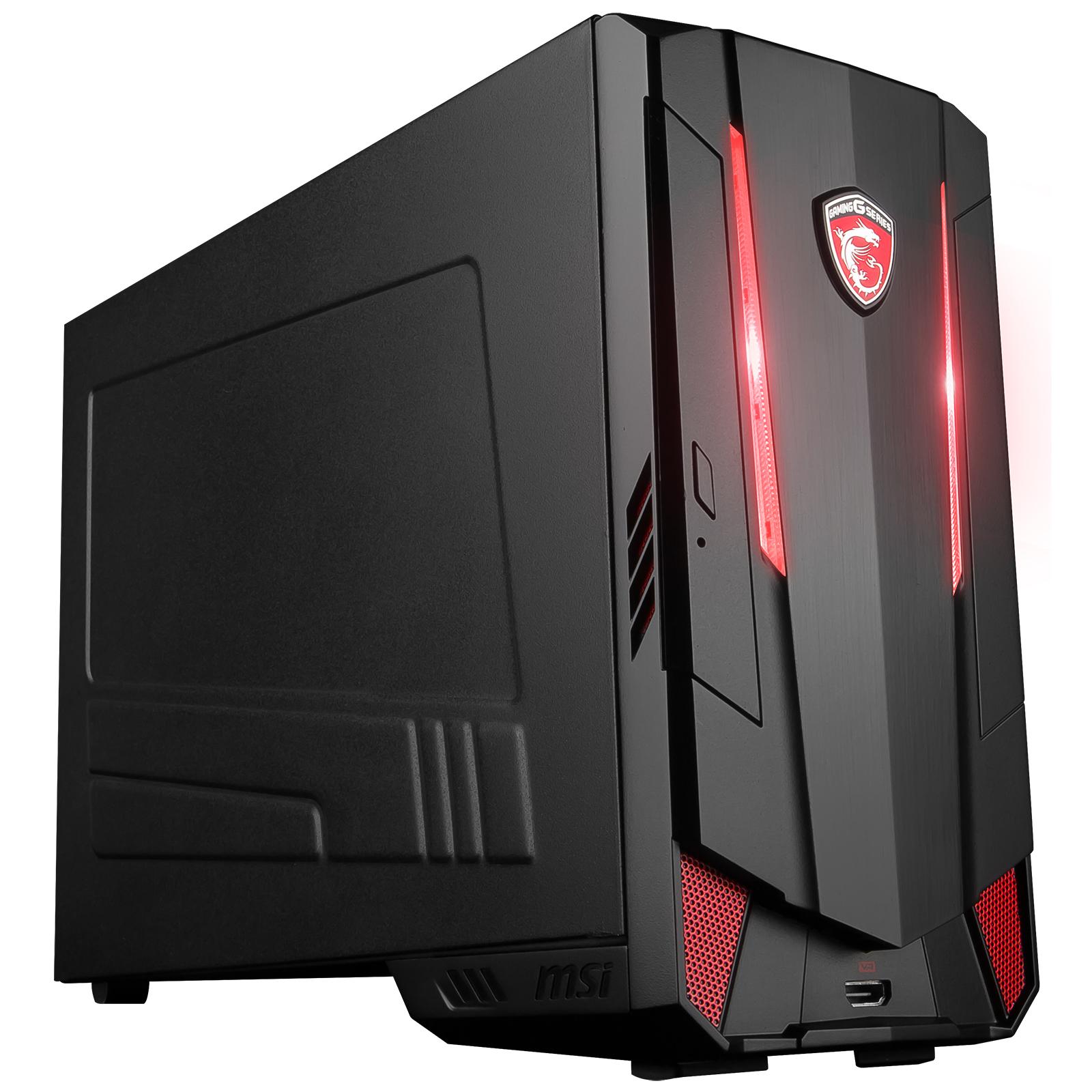 PC de bureau MSI Nightblade MI3-VR7RC-074EU Intel Core i5-7400 8 Go SSD 128 Go + HDD 1 To NVIDIA GeForce GTX 1060 6 Go Wi-Fi AC/Bluetooth Windows 10 Famille 64 bits