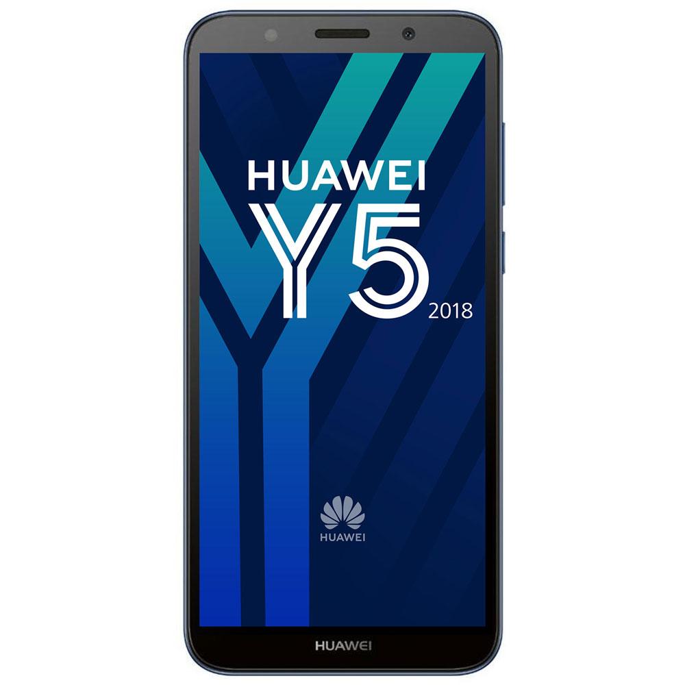 "Mobile & smartphone Huawei Y5 2018 Bleu Smartphone 4G-LTE Dual SIM - ARM Cortex-A53 Quad-Core 1.5 GHz - RAM 2 Go - Ecran tactile 5.45"" 720 x 1440 - 16 Go - Bluetooth 4.2 - 3020 mAh - Android 8.1"