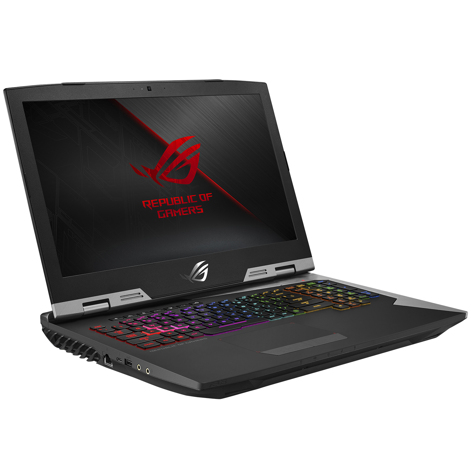 "PC portable ASUS ROG Griffin G703GI-E5083T Intel Core i7-8750H 16 Go SSD 512 Go (2x 256 Go) + SSHD 1 To 17.3"" LED Full HD 144 Hz G-SYNC NVIDIA GeForce GTX 1080 8 Go Wi-Fi AC/Bluetooth Webcam Windows 10 Famille 64 bits (garantie constructeur 2 ans)"