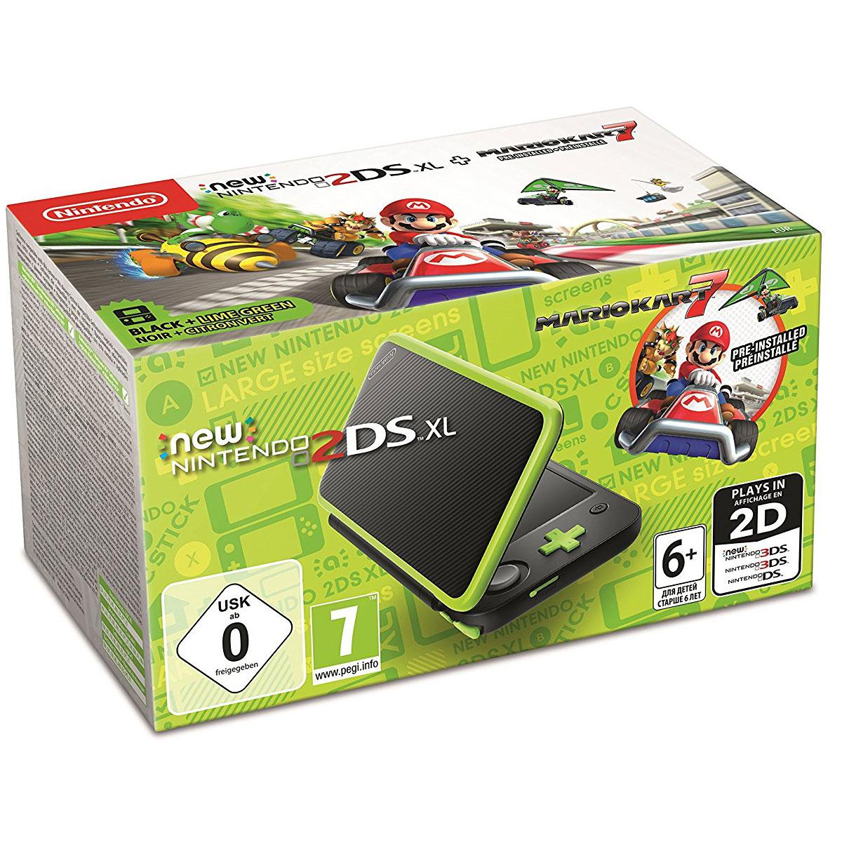 Nintendo new 2ds xl noir citron mario kart 7 console nintendo 3ds nintendo sur - Console de jeux portable tactile ...