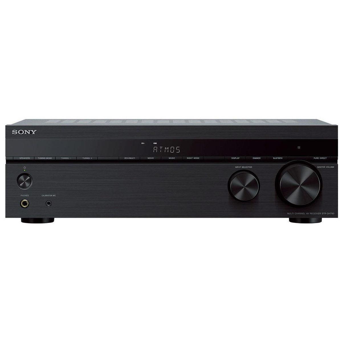 Ampli home cinéma Sony STR-DH790 Ampli-tuner Home Cinema 7.2 3D Ready - 145W/Canal - Dolby Atmos / DTS:X - Pass-through 4K HDR - 4 entrées HDMI 2.0 HDCP 2.2 - Bluetooth