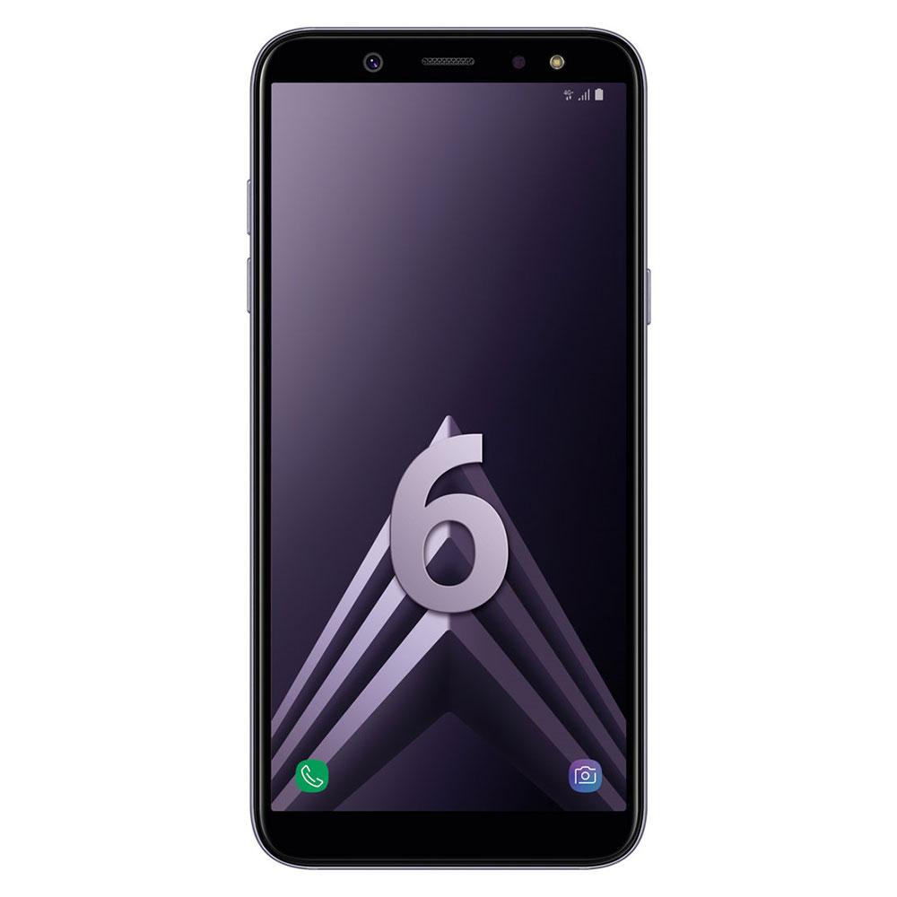 "Mobile & smartphone Samsung Galaxy A6 Bleu Argenté Smartphone 4G-LTE Dual SIM - Exynos 7870 8-Core 1.6 Ghz - RAM 3 Go - Ecran tactile 5.6"" 720 x 1480 - 32 Go - NFC/Bluetooth 4.2 - 3000 mAh - Android 8.0"