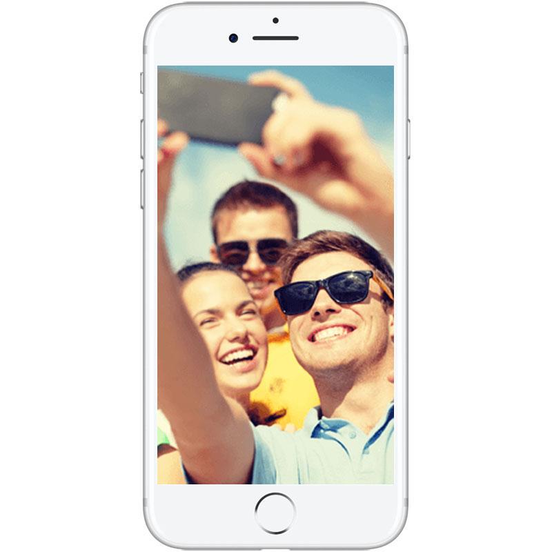 "Mobile & smartphone Again iPhone 7 128 Go Argent Smartphone 4G-LTE Advanced IP67 - Apple A10 Fusion Quad-Core 2.3 GHz - RAM 2 Go - Ecran Retina 4.7"" 750 x 1334 - 128 Go - NFC/Bluetooth 4.2 - iOS 10 - Reconditionné ECO+"
