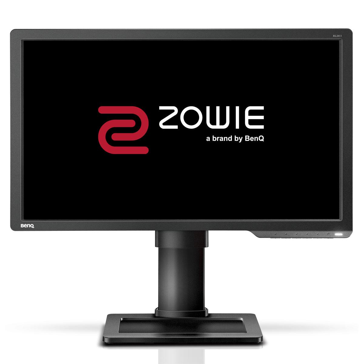 """Ecran PC BenQ Zowie 24"""" LED - XL2411 1920 x 1080 pixels - 1 ms (gris à gris) - Format large 16/9 - VGA/DVI-DL/HDMI - 144 Hz - Ajustable en hauteur - Noir (garantie constructeur 3 ans)"""
