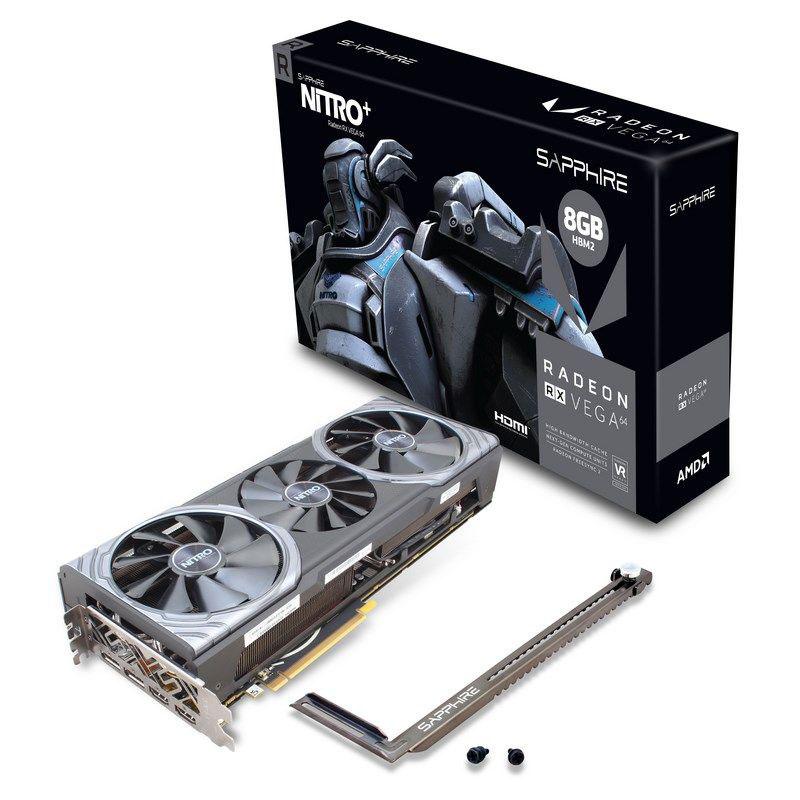 Carte graphique Sapphire NITRO+ Radeon RX Vega 64 8 Go Dual HDMI/Dual DisplayPort - PCI Express (AMD Radeon RX Vega 64)