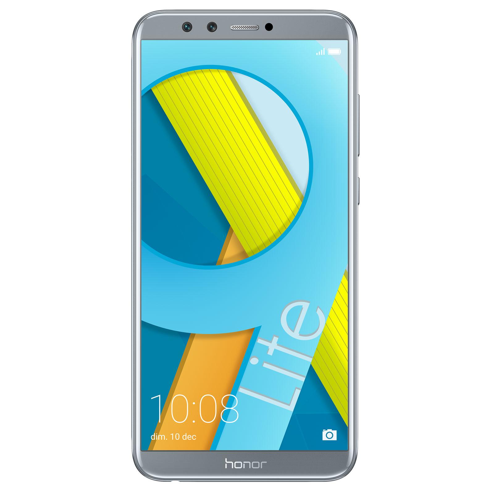"Mobile & smartphone Honor 9 Lite Gris (4 Go / 64 Go) Smartphone 4G-LTE Dual SIM - Kirin 659 8-Core 2,36 GHz - RAM 4 Go - Ecran tactile 5.65"" 1080 x 2160 - 64 Go - NFC/Bluetooth 4.2 - 3000 mAh - Android 8.0"