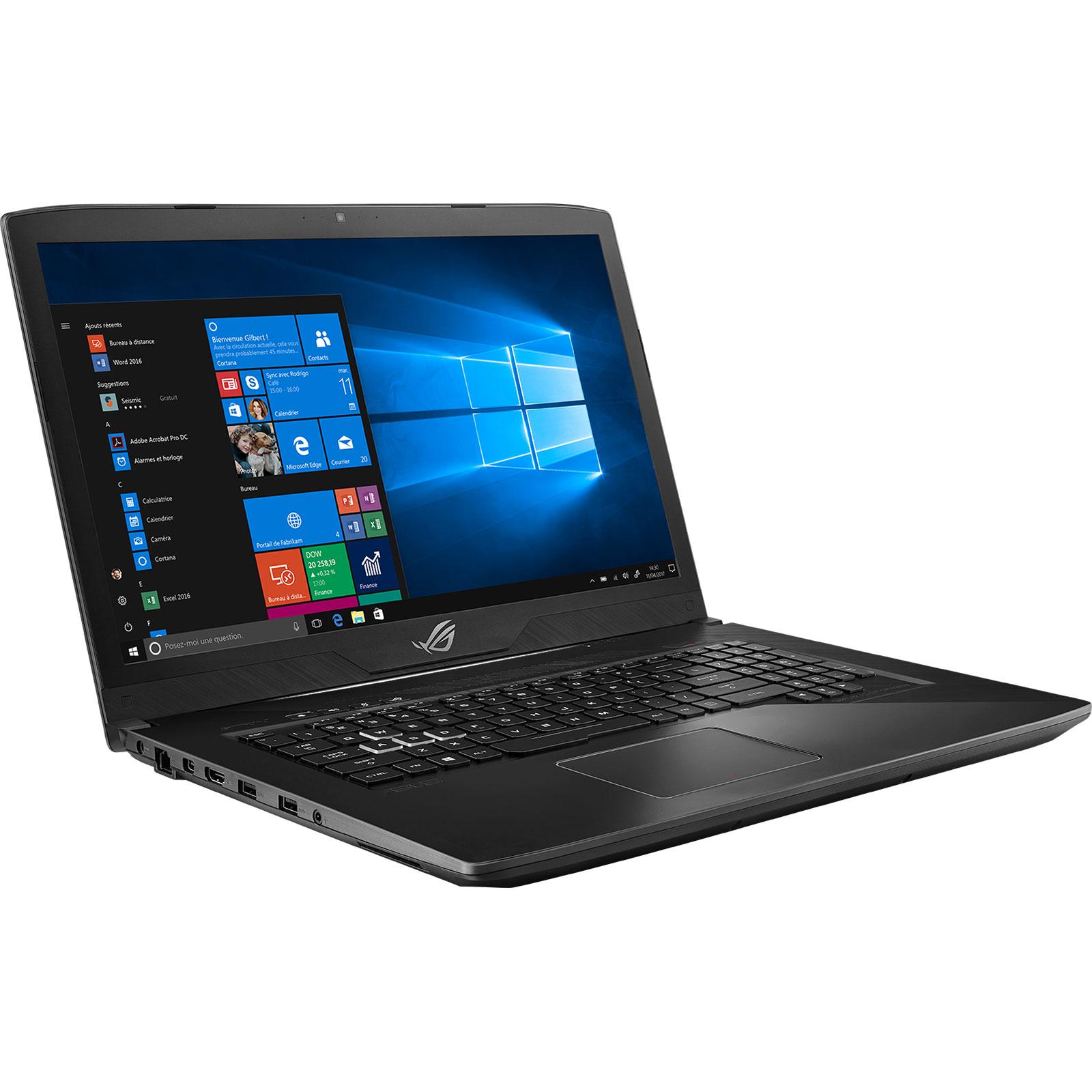 "PC portable ASUS ROG Station 17 PX703GE-GC153R Intel Core i7-8750H 32 Go SSD 256 Go + HDD 1 To 17.3"" LED Full HD NVIDIA GeForce GTX 1050 Ti 4 Go Wi-Fi AC/Bluetooth Webcam Windows 10 Professionnel 64 bits (garantie constructeur 2 ans)"
