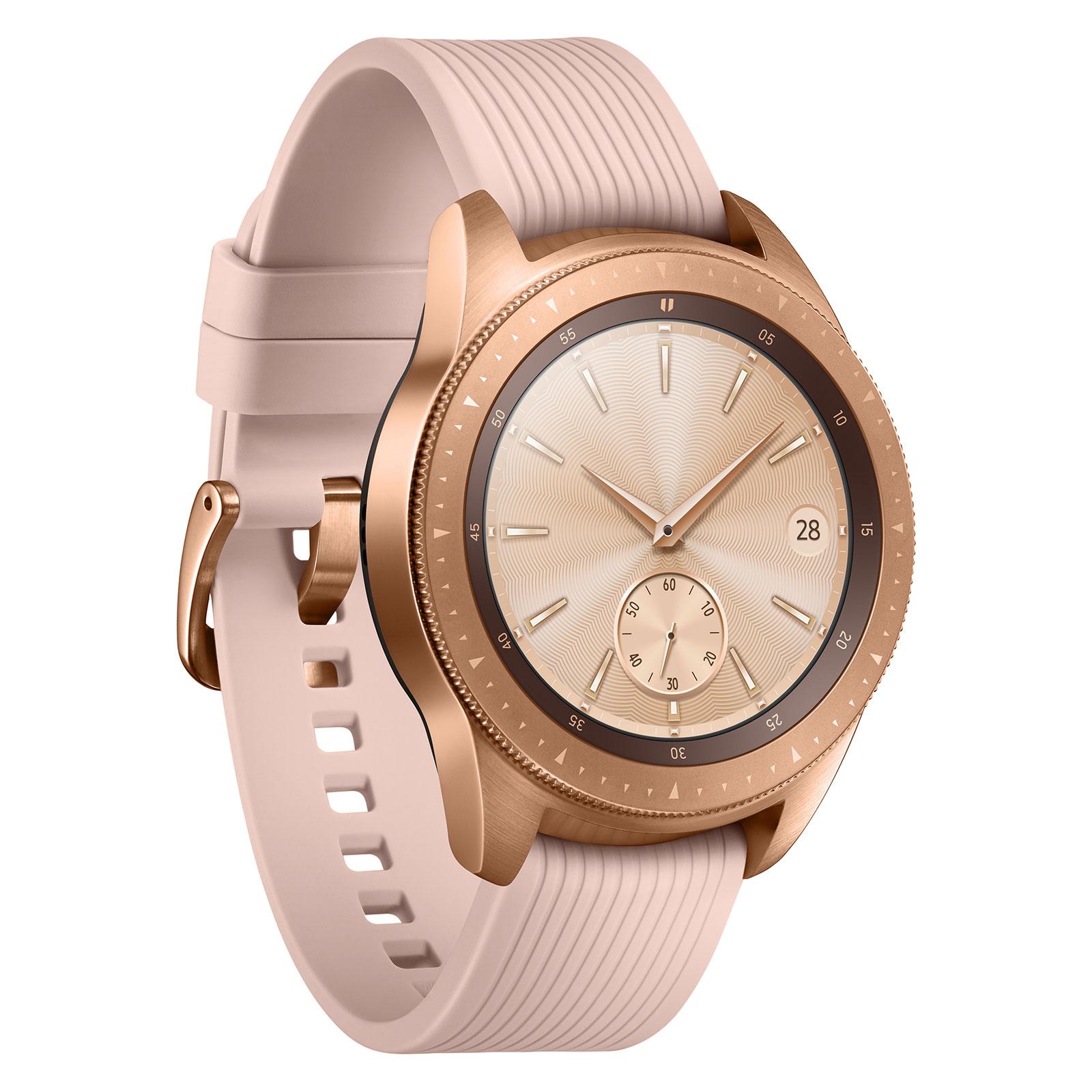 """Montre connectée Samsung Galaxy Watch Or Impérial Montre connectée certifiée IP68 avec écran Super AMOLED 1.2"""", Wi-Fi, NFC et Bluetooth 4.2 sous Tizen 4.0"""