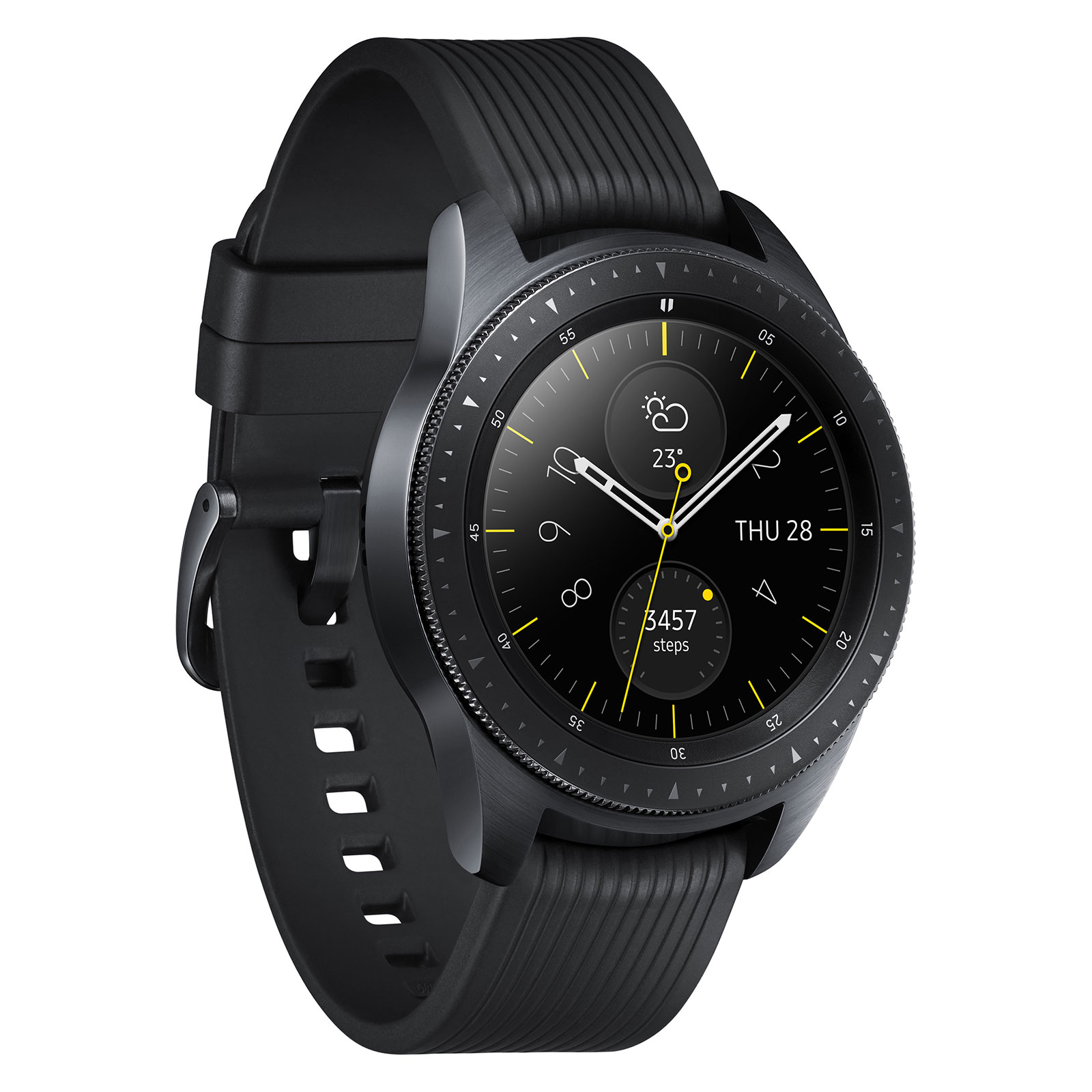 samsung galaxy watch noir carbone montre connect e samsung sur. Black Bedroom Furniture Sets. Home Design Ideas
