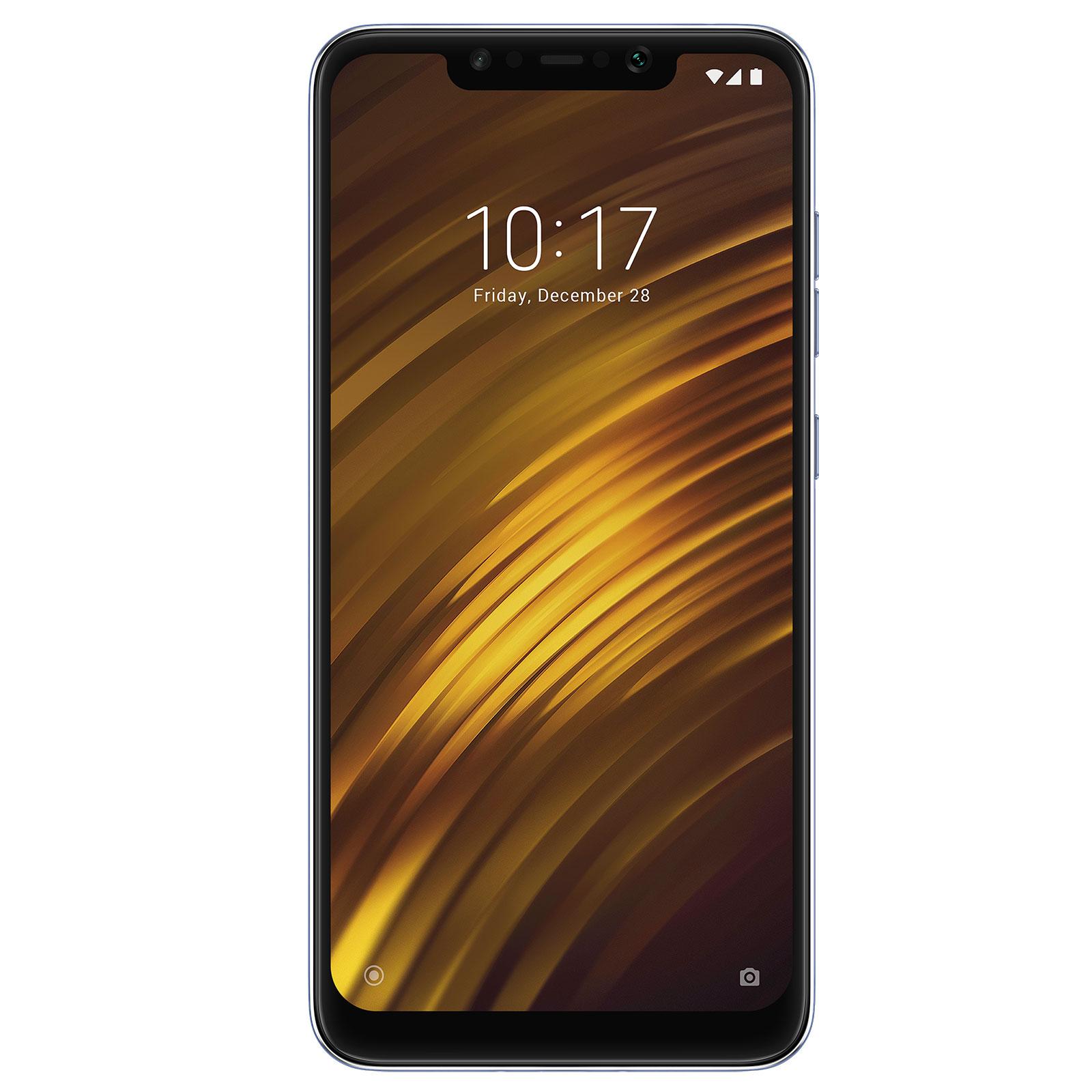 "Mobile & smartphone Xiaomi Pocophone F1 Bleu Acier (6 Go / 64 Go) Smartphone 4G-LTE Advanced Dual SIM - Snapdragon 845 Octo-Core 2.8 GHz - RAM 6 Go - Ecran tactile 6.18"" 1080 x 2246 - 64 Go - NFC/Bluetooth 5.0 - 4000 mAh - Android 8.1"