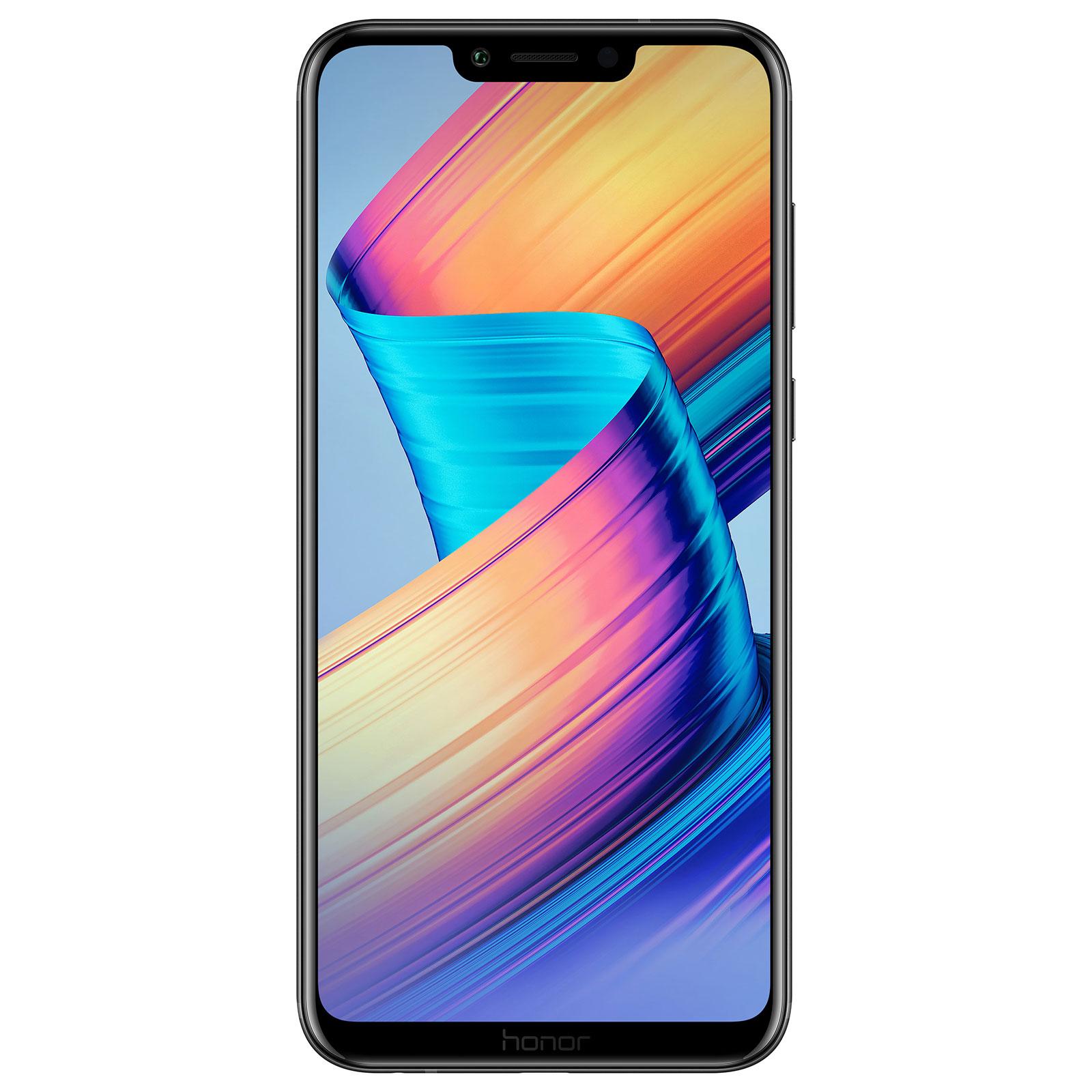 "Mobile & smartphone Honor Play Noir Smartphone 4G-LTE Advanced Dual SIM - Kirin 970 8-Core 2.4 GHz - RAM 4 Go - Ecran tactile 6.3"" 1080 x 2340 - 64 Go - Bluetooth 4.2 - 3750 mAh - Android 8.1"